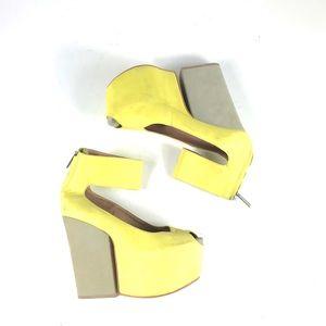 Marino Women's Neon Green Platform Heels